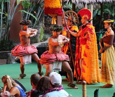 Alii Luau Men Dance for the Royal court