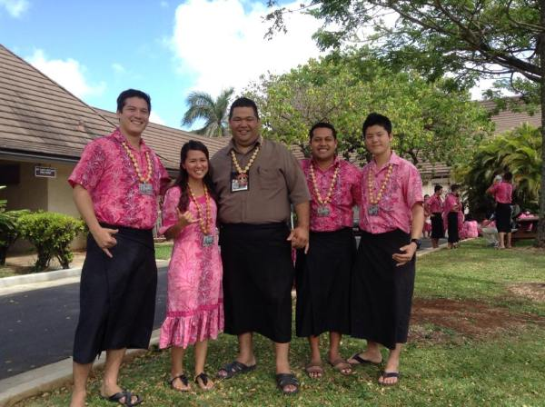 Jimmy and his kids at the Polynesian Cultural Center