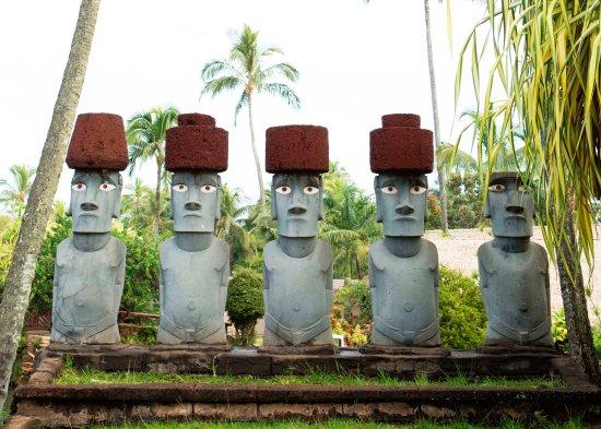 Moai statues at the PCC
