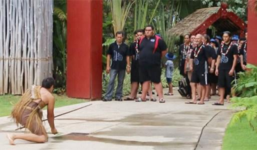 Powhiri ceremony at the 2015 Te Manahua celebration