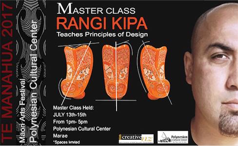 Noted Maori artist Rangi Kipa is offering a master design workshop