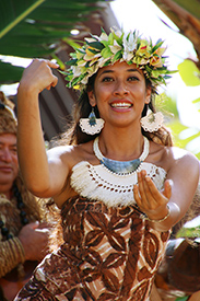Cook Islands performer Teuira Napa at the Polynesian Cultural Center