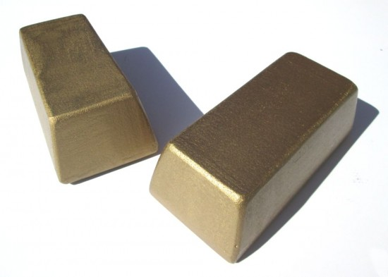 gold-bars-painted-styrofoam