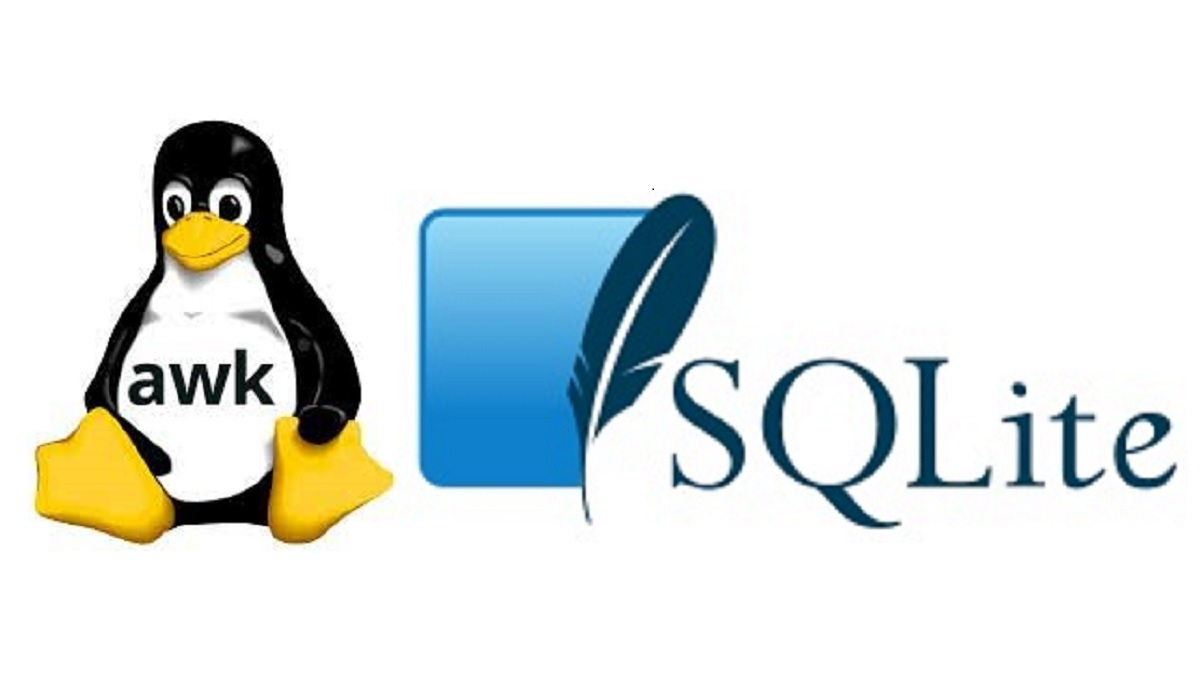 Using awk and SQLite