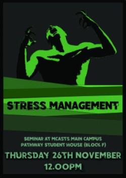 Stress management flyer