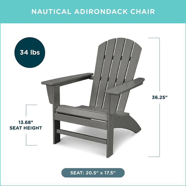 Nautical Adirondack Chair