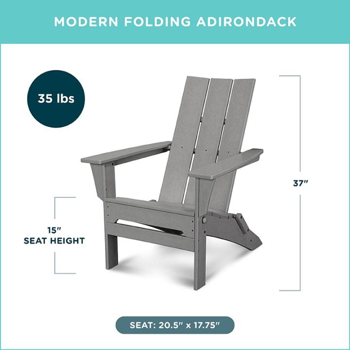 Modern Folding Adirondack
