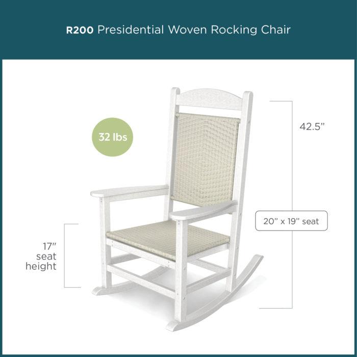 white presidential rocking chair