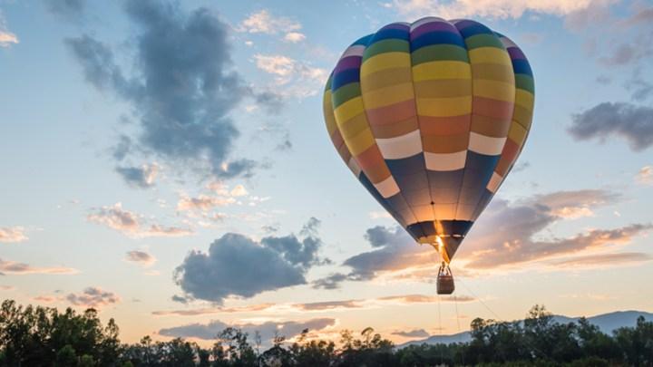 Hot Air Ballooning at sunset