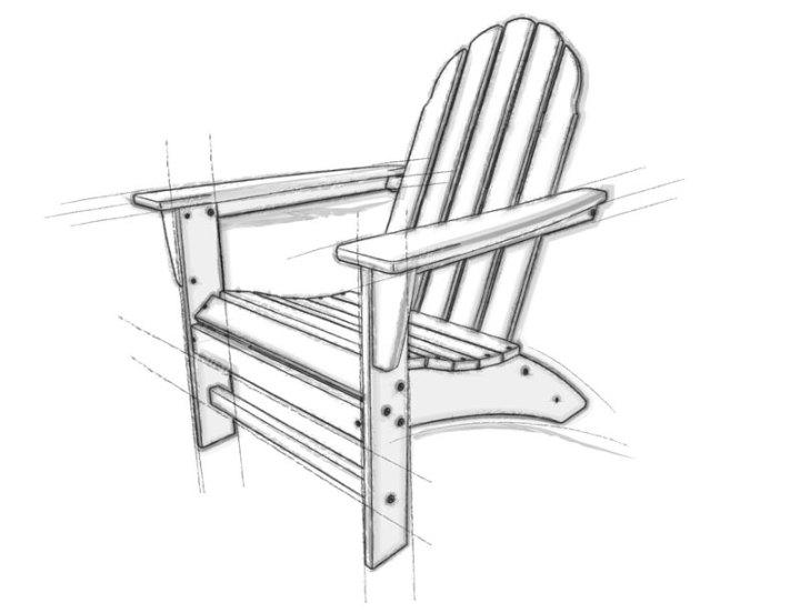 polywood adirondack chair sketch