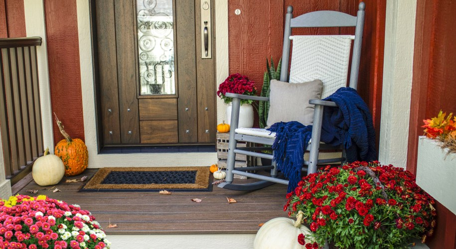 front porch fall mums fall decor outdoor decorating floral