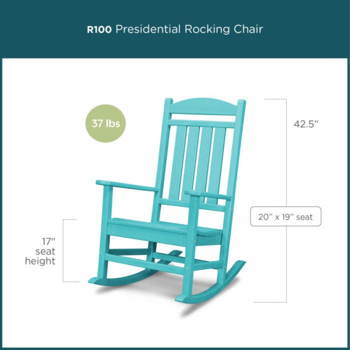 blue presidential rocking chair