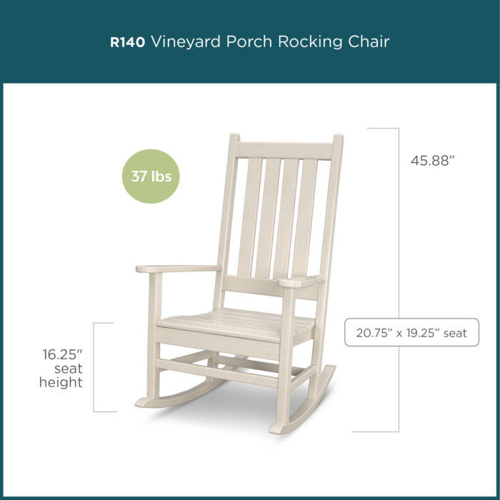 white wooden porch rocking chair