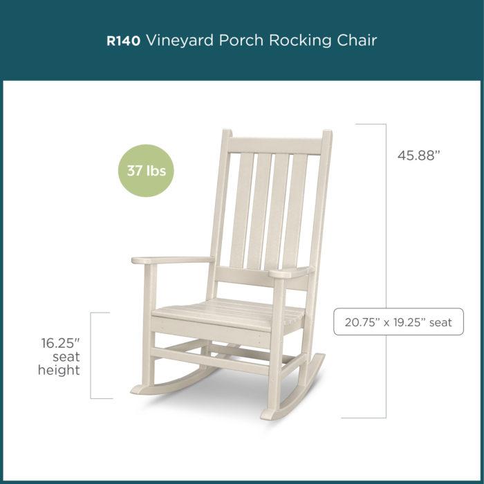 white wooden porch rocking chair