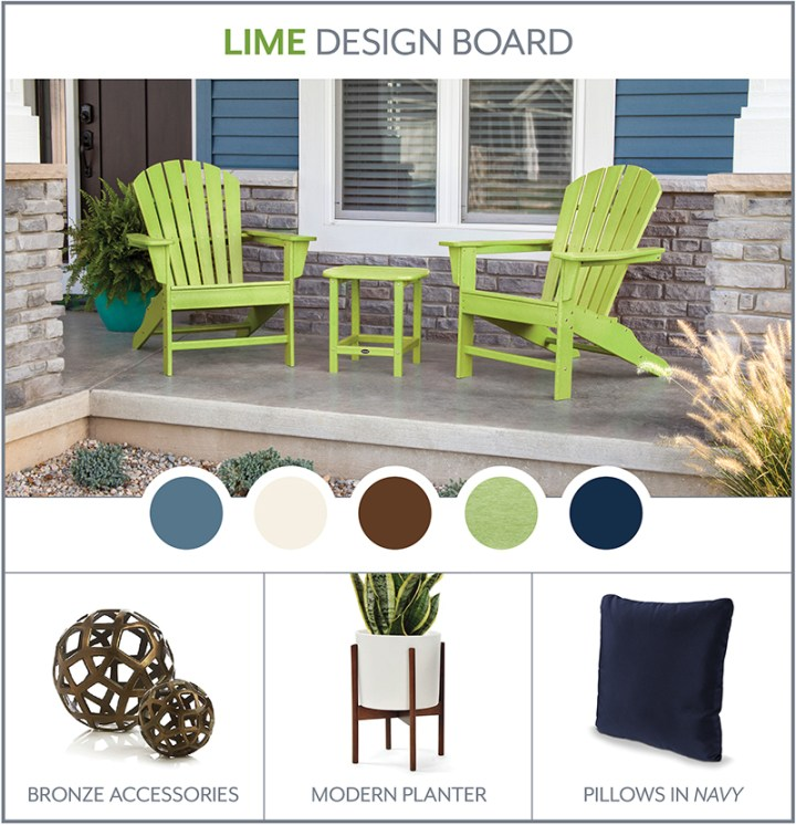 lime-south-beach-adirondack-design-board