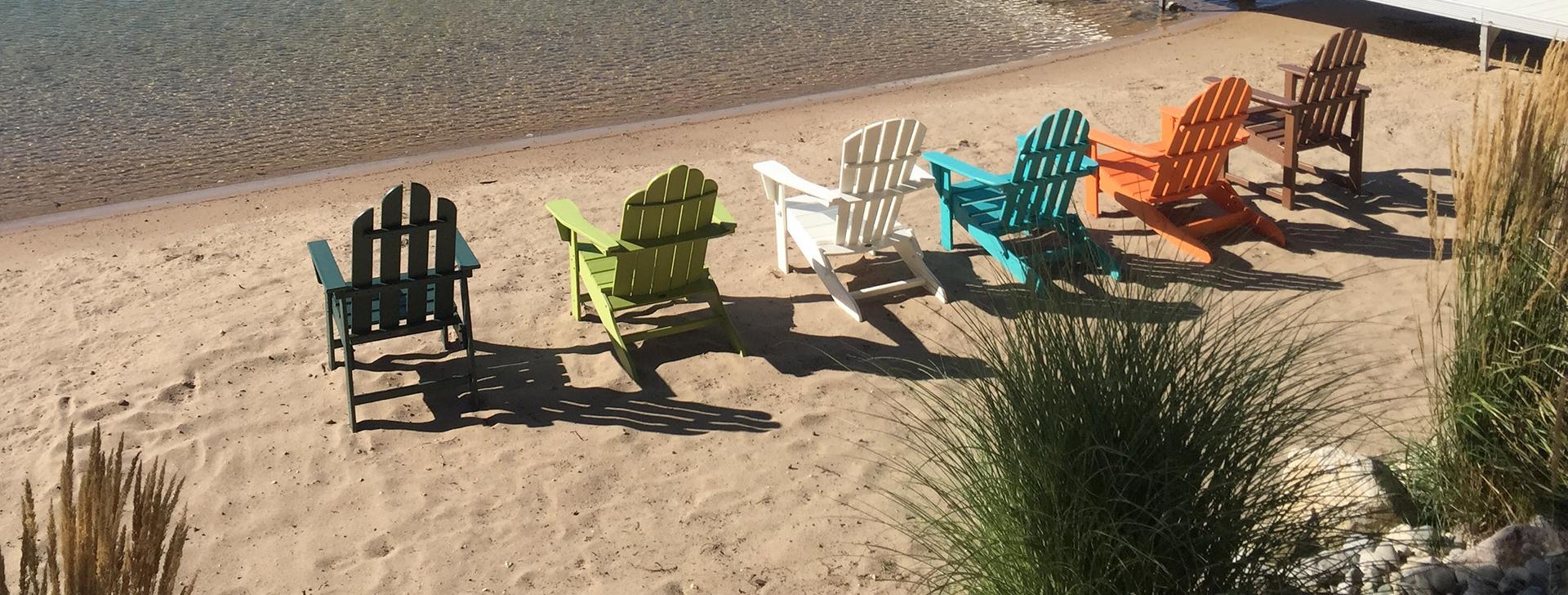 Adirondacks on a Beach
