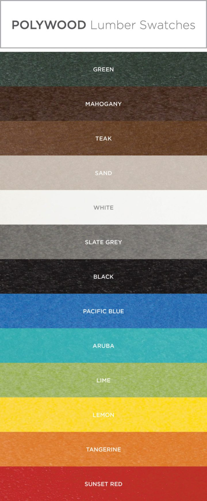adirondack chair color swatches