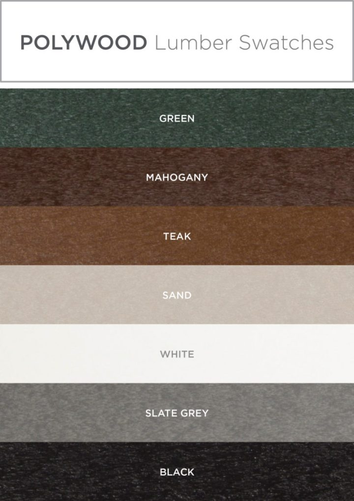 polywood lumber swatches