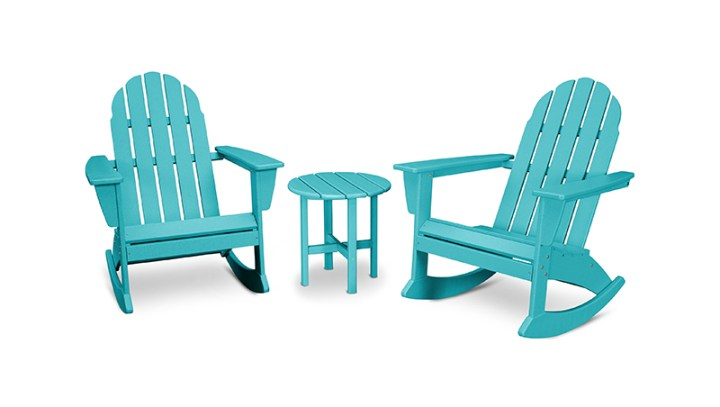 POLYWOOD 3-Piece Adirondack Rocking Chair Set