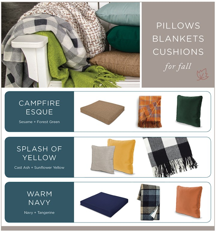 Pillows Blankets Cushions for Fall