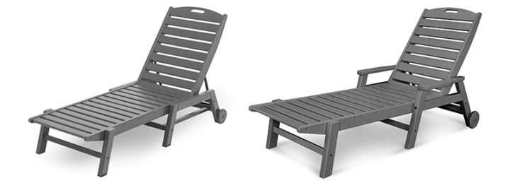 2 polywood grey outdoor chaise lounges