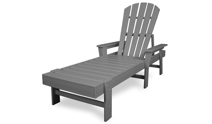 grey polywood outdoor chaise lounge