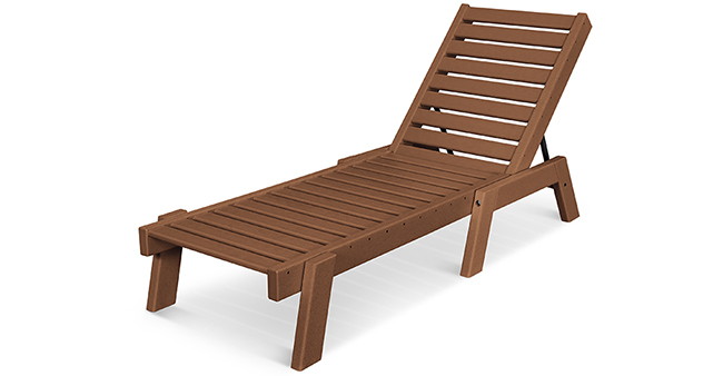 polywood brown outdoor chaise lounge
