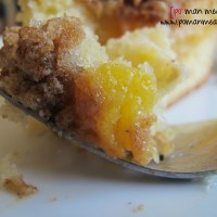 moist peach streusel cake