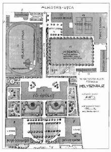 Testnevelési Egyetem épületei (helyszínrajz)