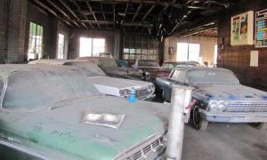 Inside storage at the Lambrecht Chevrolet dealership.