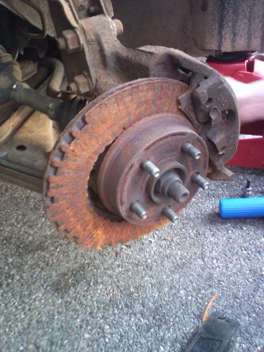 Destroyed brake rotors