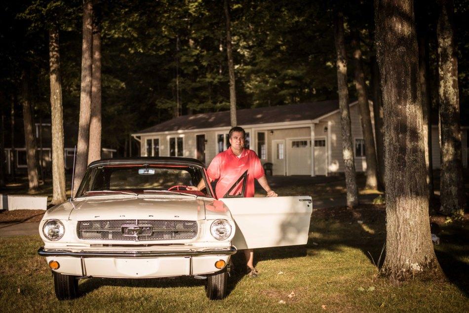 Gary Schweitzer with his Skyway Mustang