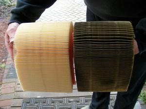 Clean vs Old Car Air Filter