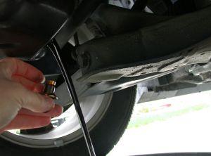 Draining Motor Oil