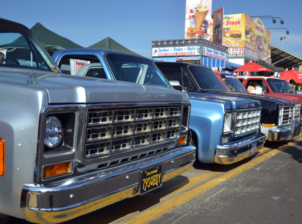 Classic Trucks Lined Up