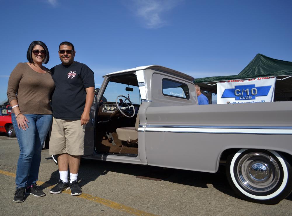 Tom & Michelle Macias with their 64 C10 Truck