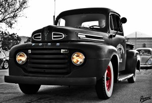 Classic Ford Truck With Color Splash