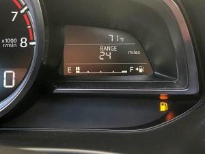 Fuel Gauge Showing Empty