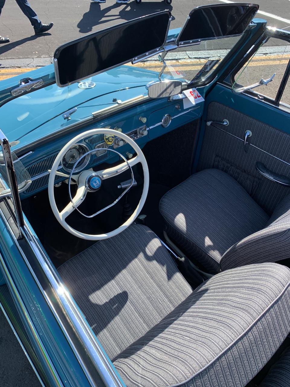 1962 VW Bug Convertible Interior