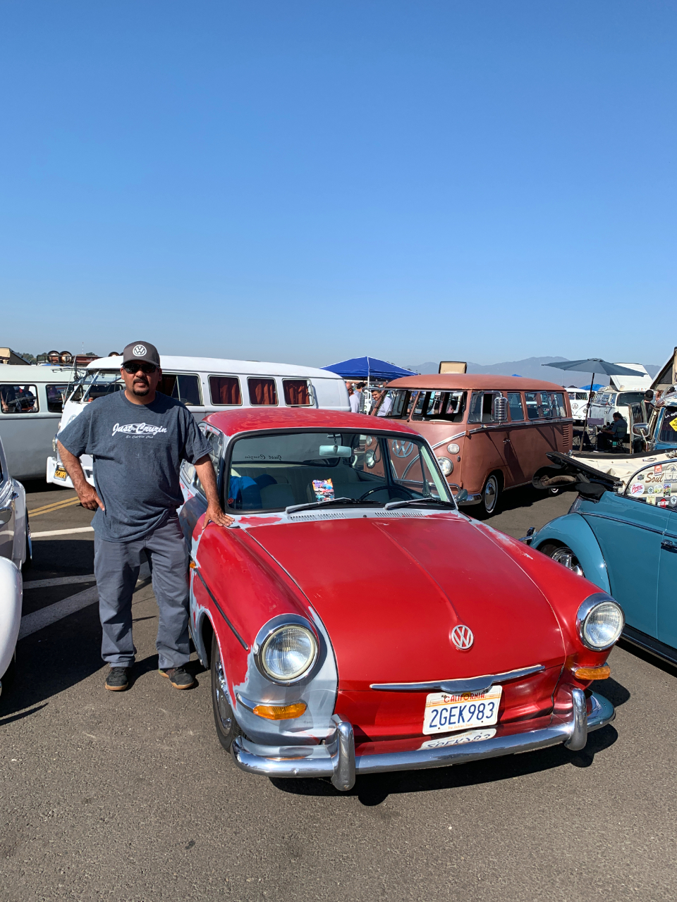 Fernando Nuno with his 1964 VW Notchback