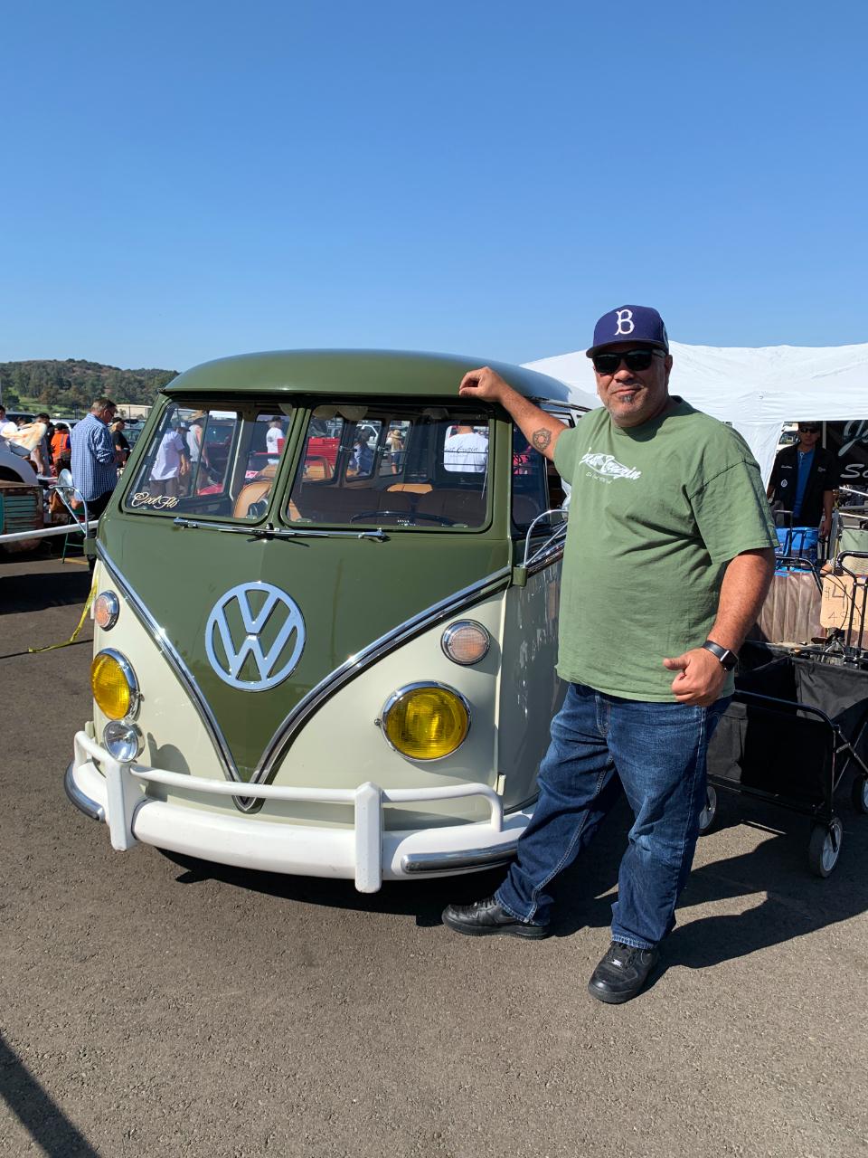 Mario Perez with his 1967 VW Bus
