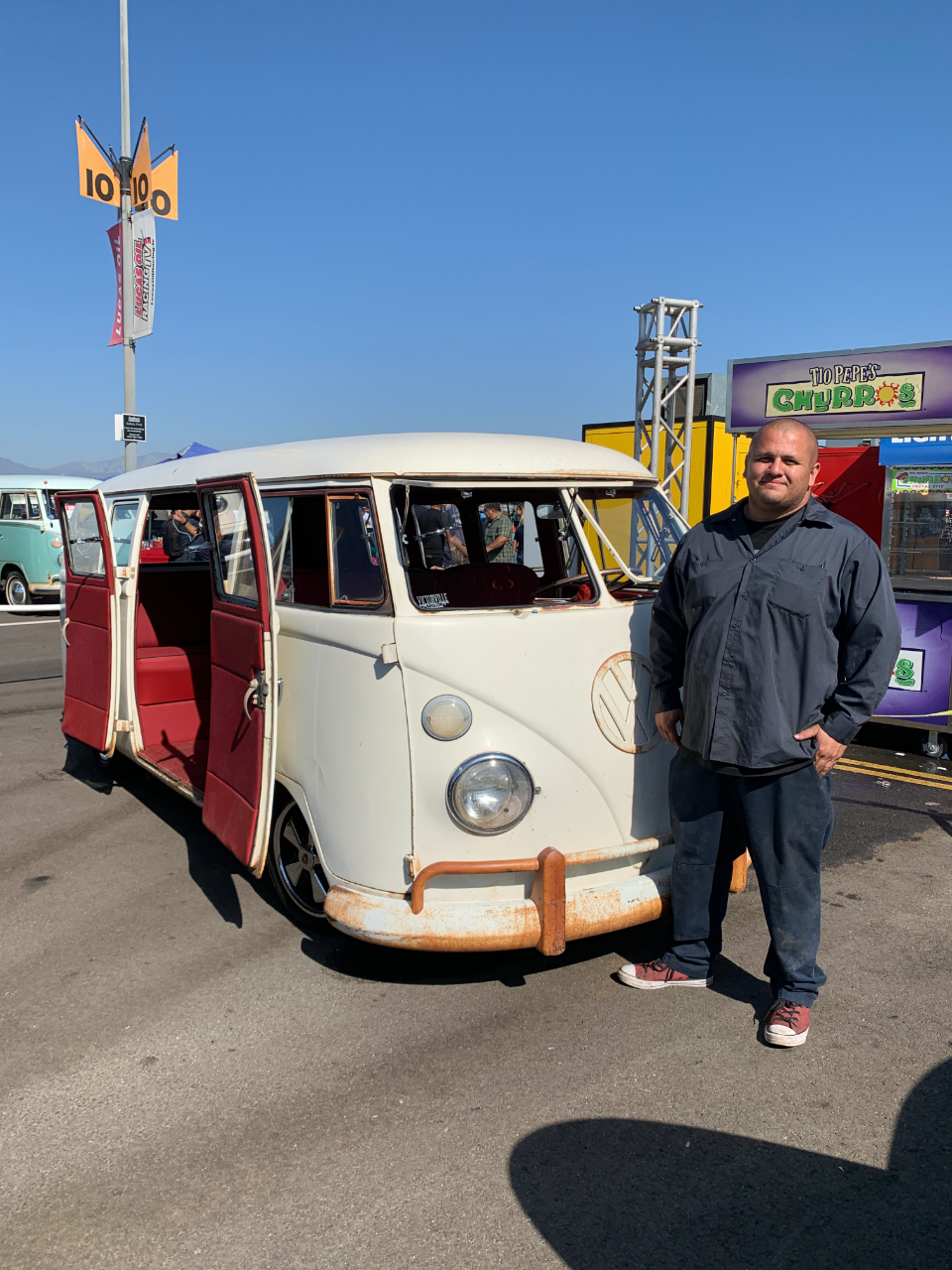 Pete Aguilera with his 1966 VW Bus