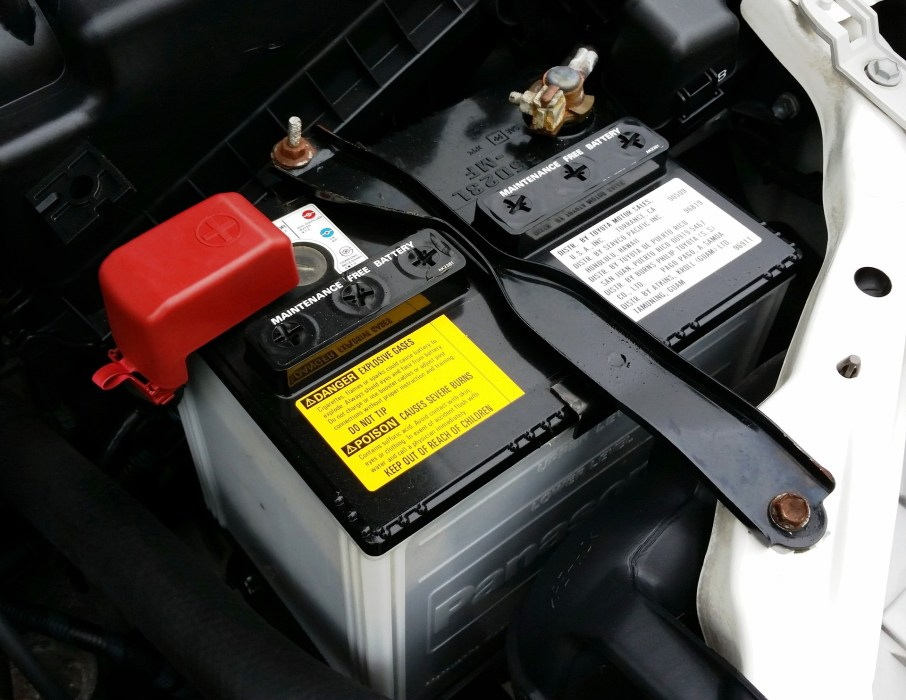 Car Battery with Hold Down