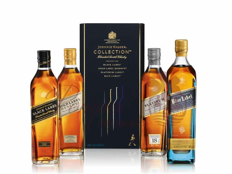 Johnnie Walker Collection Gift Set From Pompei Baskets