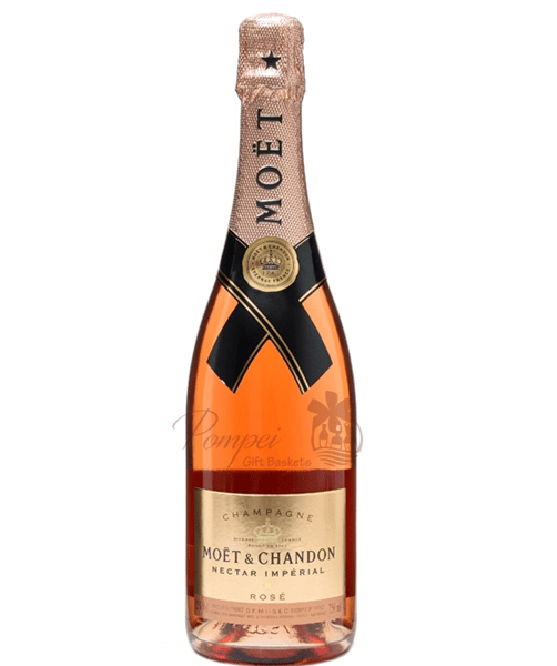 moet and chandon nectar rose imperial champagne pompei baskets. Black Bedroom Furniture Sets. Home Design Ideas