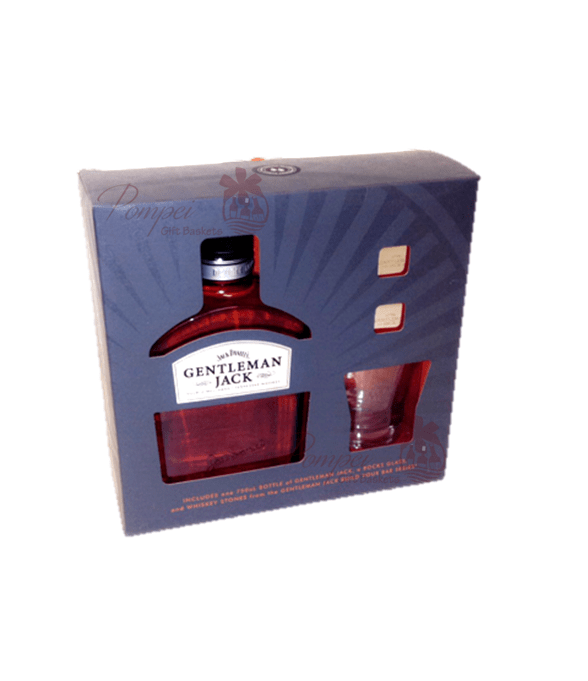 gentleman jack whiskey gift set from pompei baskets