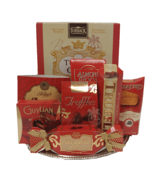 You red my mind gourmet gift basket by pompei baskets you red my mind gourmet gift basket gift baskets nj nj food baskets negle Choice Image