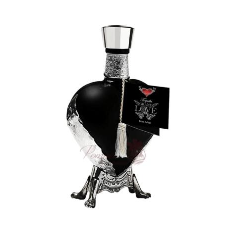 Black Heart Liquor Bottle