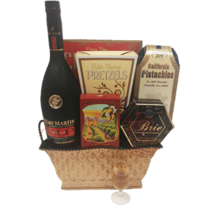 Very Superior Cognac Gift Basket, Remy Gift Basket, Remy Gift Basket Delivered, Free Shipping Remy Gift Basket, Inexpensive Remy Gift Basket, Remy VSOP Gifts, Remy Cognac Gifts