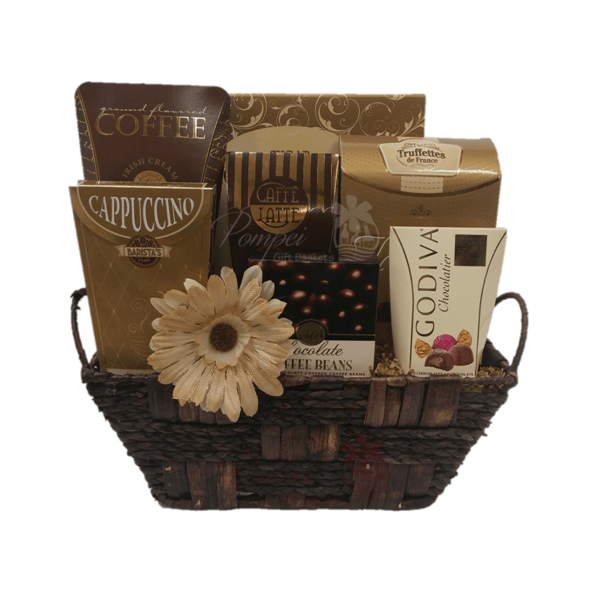 Cafe break gourmet gift basket by pompei baskets cafe break gourmet gift basket coffee gift basket tea gift basket coffee gift negle Image collections